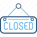 board, closed, road, sign icon