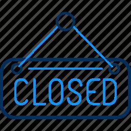 board, closed, road, sign icon