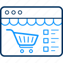 basket, cart, shop, shopping, website icon
