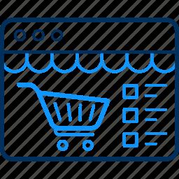 basket, cart, shop, shopping, website icon