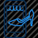 app, footwear, mobile, sandal, shop, shopping