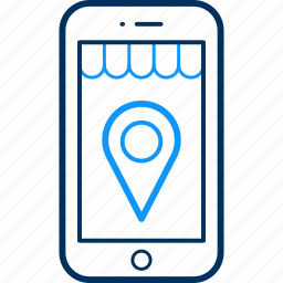 gps, location, map, mobile, phone, smartphone icon