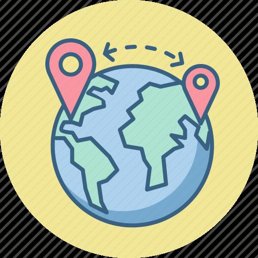 earth, globe, gps, locate, locate us, store, world icon