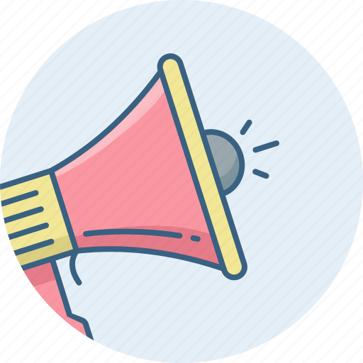 Announce, bullhorn, advertising, announcement, megaphone, speaker icon - Download on Iconfinder