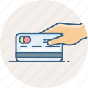 card, credit, debit, pay, payment, shopping, swipe icon