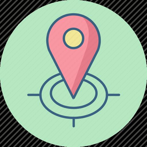 gps, locate, location, locator, map, pointer, store icon