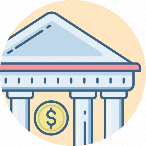 Bank, banking, financial, institution, building, treasury icon - Download on Iconfinder