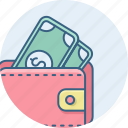 bank, business, cash, currency, finance, money, wallet icon
