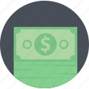 cash, flat design, money, payment, round, shopping icon
