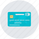 card, credit, flat design, payment, round, shopping icon