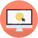 e-commerce, electronic, flat design, money, online, payments, shopping icon