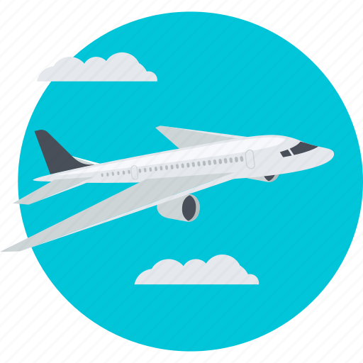 airplane, delivery, fast, flat design, shopping, transportation icon