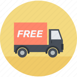 delivery, flat design, free, shipping, shopping, tracking, transportation icon