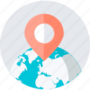 destination, flat design, location, navigation, place, shopping, store icon