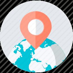 destination, flat design, location, navigation, place, shopping, store icon