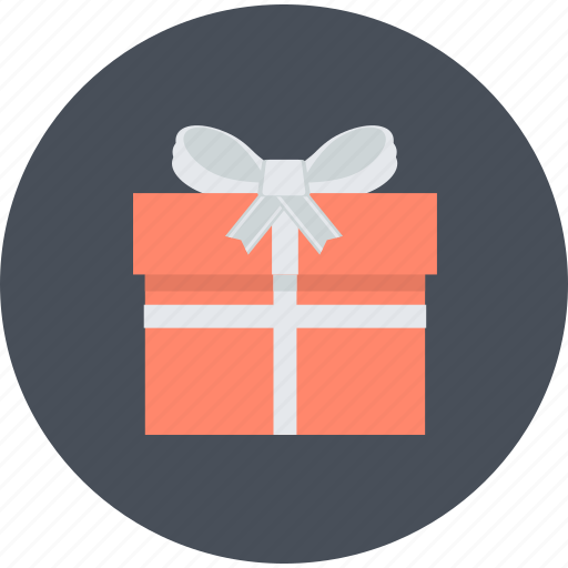 flat design, gift, round, shopping, special offer icon