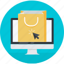 bag, ecommerce, online, round, shop, shopping icon