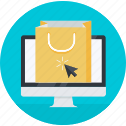bag, ecommerce, flat design, online, round, shop, shopping icon