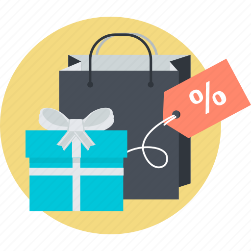 discount, e-commerce, flat design, gift, round, shopping, special icon