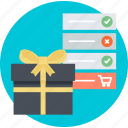 e-commerce, gift, list, online, shopping, wish icon