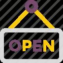 open, shop, store icon icon