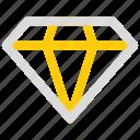 diamond, premium, quality, shine icon icon