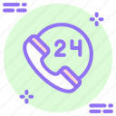 call, hours, mobile, phone, service, support icon icon