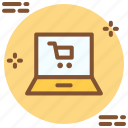 cart, laptop, shopping icon icon