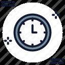clock, seven o' clock icon icon