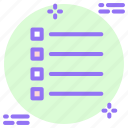 bullet list, details, list, thumbnails, to do, view icon icon
