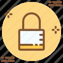 block, lock, login, private icon icon