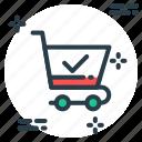 cart, check, select, shopping icon icon