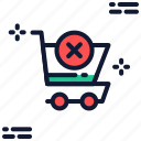 cancle, cart, delete, remove, shopping, trash, trolley icon icon