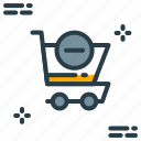cancel, cart, minus, shopping, shopping cart icon icon
