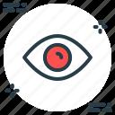 eye, red eye, view, views icon icon