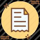 bill, invoice, purchase, receipt icon icon