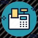 billing, invoice, machine, printer icon icon
