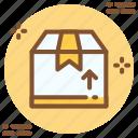 arrow, box, up, upload icon icon