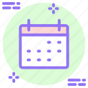 calander, date, month, numbers icon icon icon