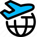 air, flight, international, shipping icon