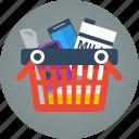 basket, buy, e-commerce, ecommerce, full, full basket, order, pay, products, purchase, shopping icon