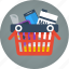 basket, buy, e-commerce, ecommerce, full, full basket, order, pay, products, purchase, shopping icon