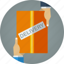 buy, deliver, delivery, e-commerce, ecommerce, hand delivery, hand to hand delivery, order, product, product delivery, purchase, shopping icon