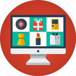 buy, computer, e-commerce, ecommerce, imac, online shop, online shopping, online store, order, product list, products, purchase, shop, store, web icon