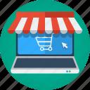 buy, e-commerce, ecommerce, laptop, macbook, market, mouse, online shop, online store, order, purchase, shopping, store, web shop, web store icon