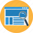 e-commerce, ecommerce, find, find product, look for, magnifier, research, search, search product, shopping, web, web search, website icon