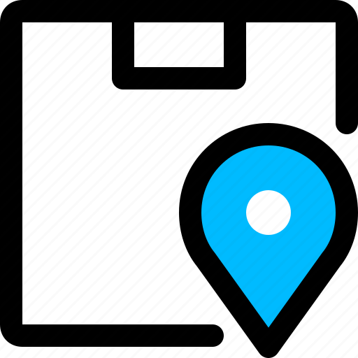 delivery, location, parcel, tracking icon