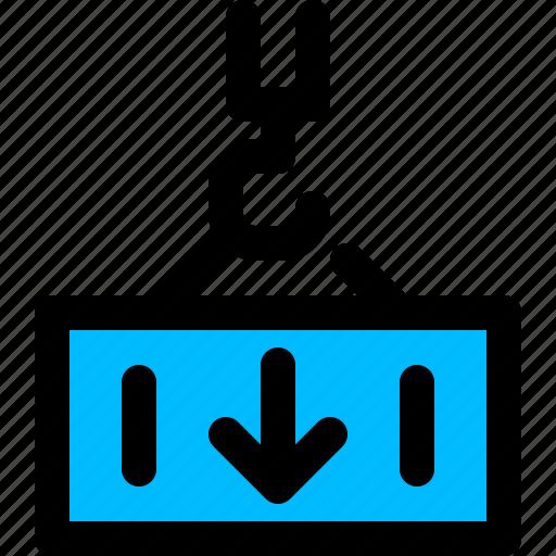 import, shipping, transport, unloading icon