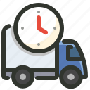 delivery, shipping, time icon
