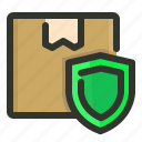 delivery, package, protected, secure icon
